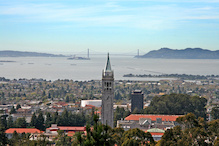 Campus seen from east hills