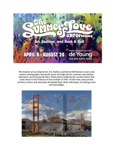 Summer of Love - deYoung Museum info